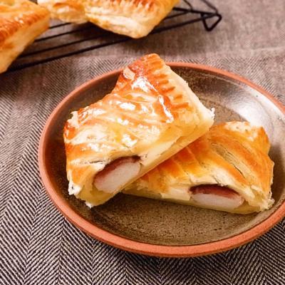 串団子で作る あんこもちクリームチーズパイ