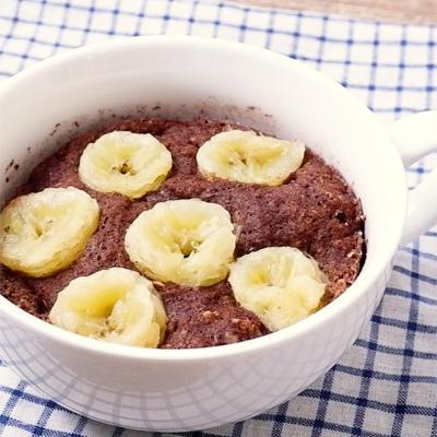 マグカップで バナナのココアおから蒸しパン