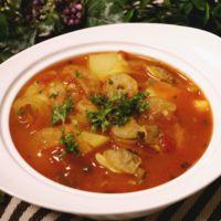 シーフードミックスでブイヤベース風スープ