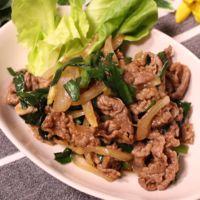 牛肉とニラのにんにくガッツリ炒め