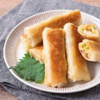 チーズ入り 白菜と豆もやしの焼き春巻き