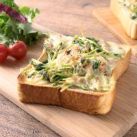 豆苗とツナの簡単トースト