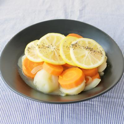 いろいろ根菜のレモン煮