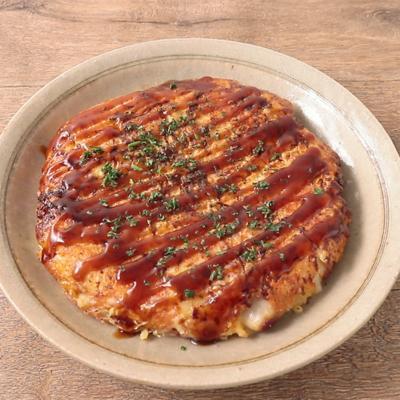 牡蠣とチーズのお好み焼き