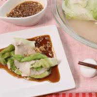 野菜もりもり!レタスと豚バラのミルフィーユレンジ蒸し
