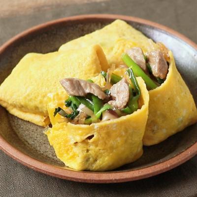薄焼き卵で中華包み