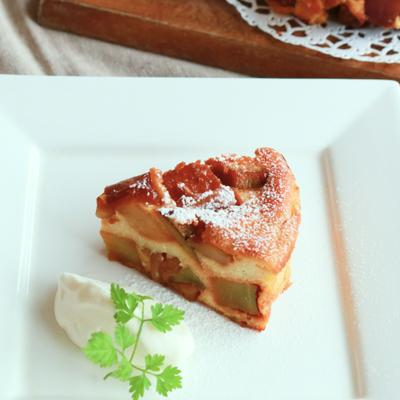 キャラメルナッツりんごのカッテージチーズケーキ