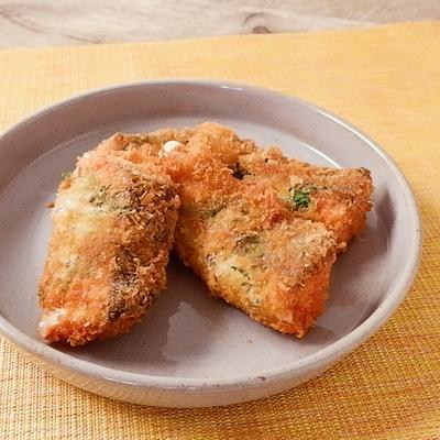 塩鮭と大葉のチーズフライ