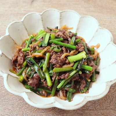中華クラゲと牛肉の炒め物