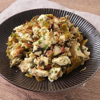 ご飯に合う 高菜と豆腐の和え物