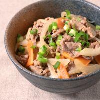 牛肉の味噌炒め丼