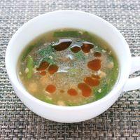 ピリ辛 ひき肉とニラの春雨スープ