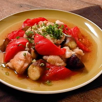 鶏ももとトマトの中華蒸し