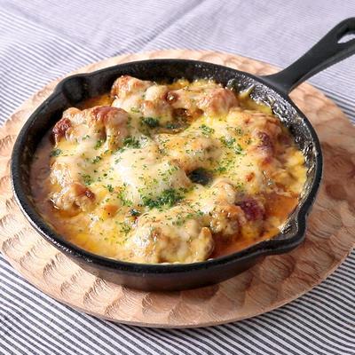 スキレットで とろーりチーズのタンドリーチキングリル