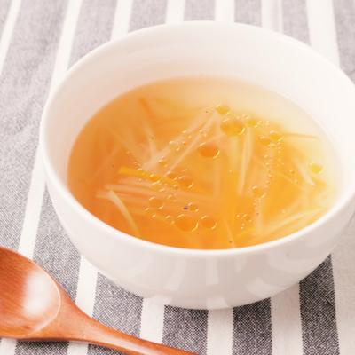 しょうがたっぷり千切り野菜の中華スープ