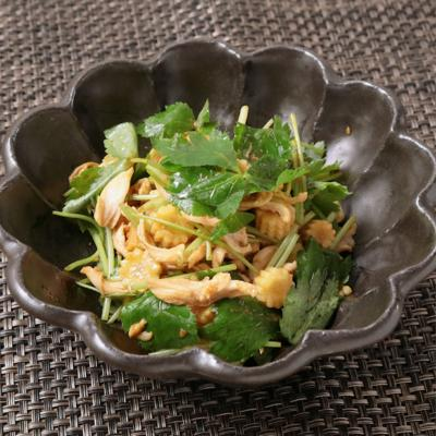 鶏ささみと三つ葉のサラダ