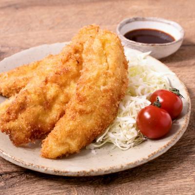 塩麹でジューシー鶏ササミのフライ