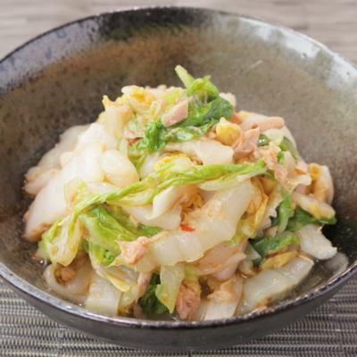 白菜とツナのピリ辛和え