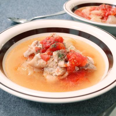圧力鍋でとろとろチキントマトスープ