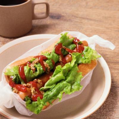 ワンパン朝ごはん ウインナーでお手軽食パンホットドッグ