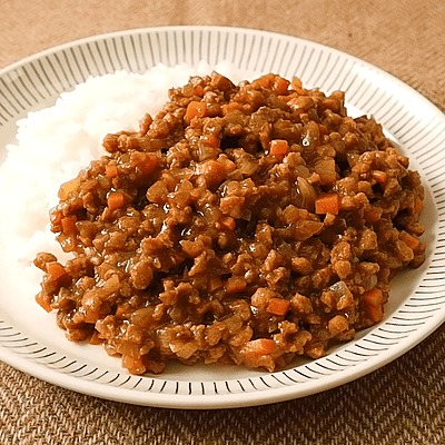 大豆ミートで作るキーマカレー