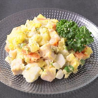 おうちで簡単ロシア料理 オリビエサラダ