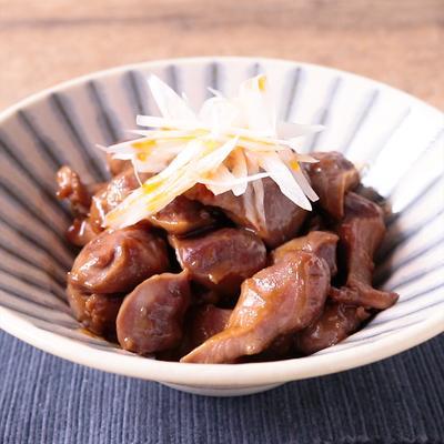 砂肝のニンニク醤油炒め