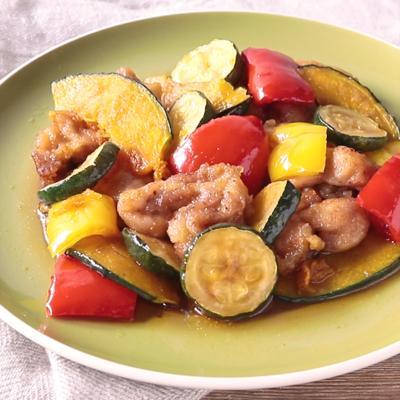鶏もも肉と彩り野菜の南蛮漬け