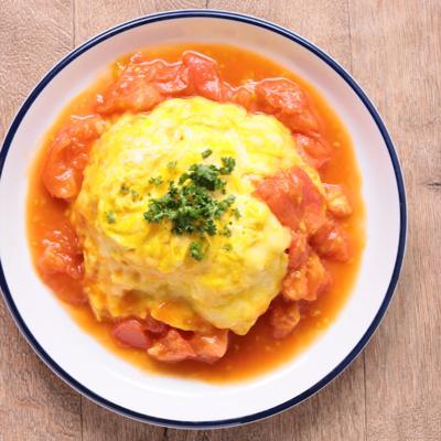 フレッシュトマトのチーズオムライス