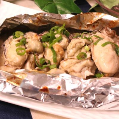 おつまみに!牡蠣とキノコの味噌マヨホイル焼き