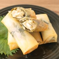 チーズでコクうま 海苔とささみの春巻き