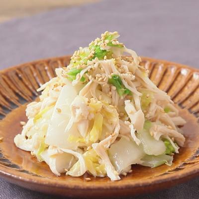 電子レンジで簡単 鶏ささみと白菜の中華風サラダ