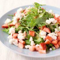 いちごと水菜のサラダ  バルサミコ酢ドレッシング