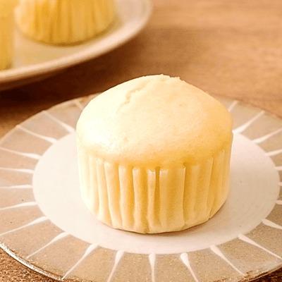 ホットケーキミックスで作る アーモンドミルク蒸しパン