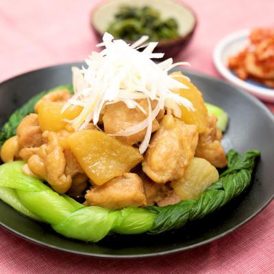 鶏肉と大根の中華風煮込み
