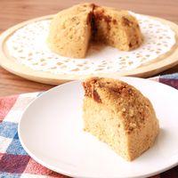 レンジで簡単グルテンフリー おからとイチジクの黒糖ケーキ