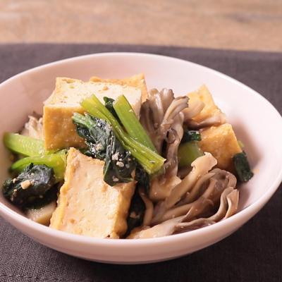 小松菜と厚揚げのごまみそ煮