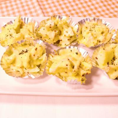カリフラワーとささみのカップチーズ焼き