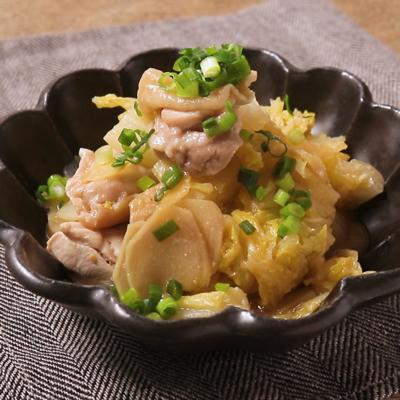 レンジで簡単 鶏肉と白菜の生姜みそ和え