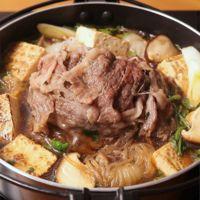 すき焼き仕立ての 肉山鍋