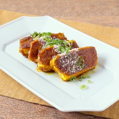 スパイシーカレー豆腐ステーキ