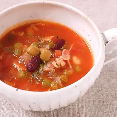 メキシカンなチリトマトスープ