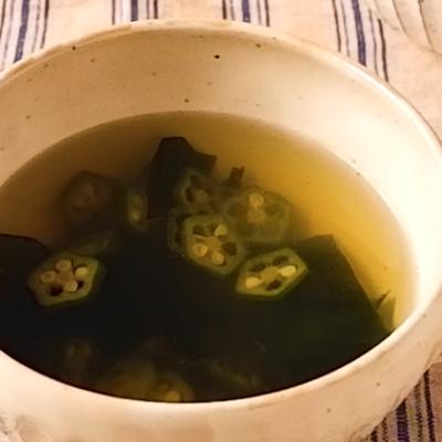 オクラとわかめのスープ
