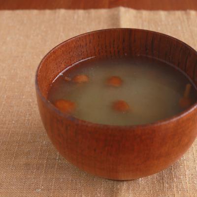 なめことオクラのトロトロお味噌汁