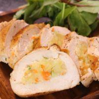 鶏むね肉のポテサラ挟み焼き