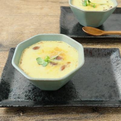 みそ汁リメイク 出汁が効いたレンジで簡単茶碗蒸し