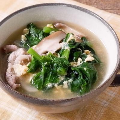 かき菜たっぷり 中華風スープ