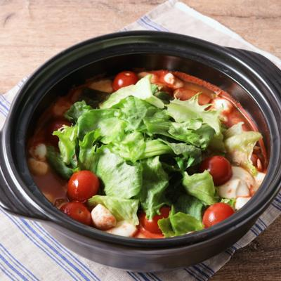 レタスたっぷり洋風チーズトマト鍋