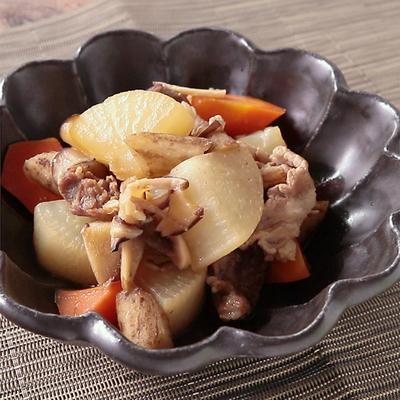 根菜と豚肉の甘辛煮