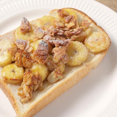 バナナのキャラメリゼトースト